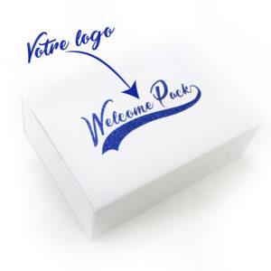 Personnalisation logo welcome pack sur mesure