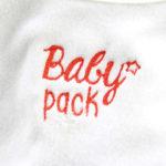 Bavoir brodé cadeau naissance baby pack